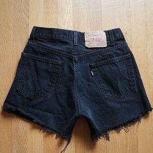 Levi's vintage 505 cut off jean shorts